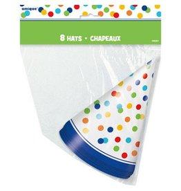 Unique CHAPEAUX DE FÊTE (8) - POIS ARC-EN-CIEL