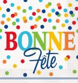 Unique SERVIETTES DE TABLE (16) - BONNE FÊTE À POIS