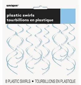 Unique TOURBILLONS SUSPENDUS EN PLASTIQUE (8) - BLEU PÂLE