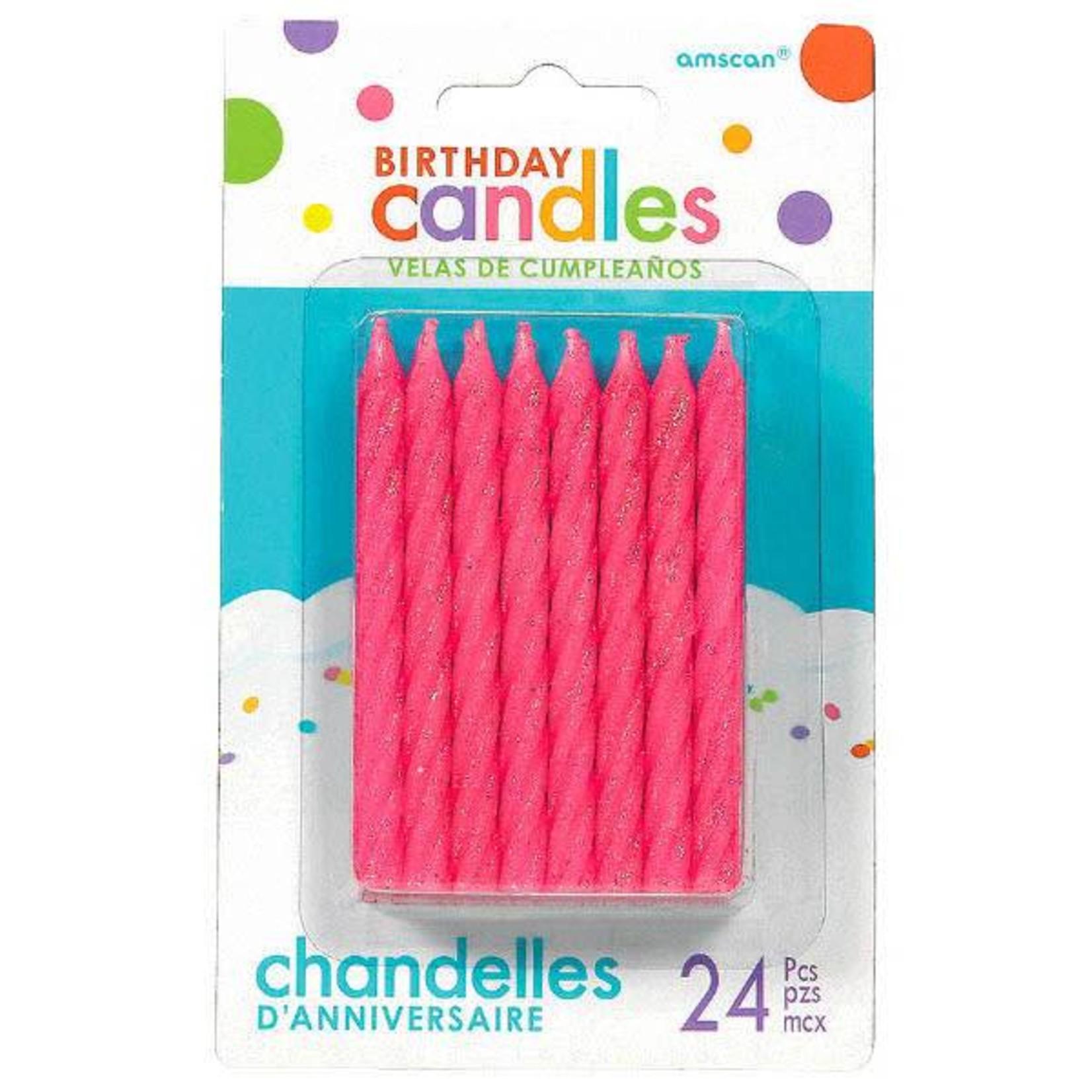 "Amscan CHANDELLES EN SPIRALE SCINTILLANTES 3.25"" (24) -"