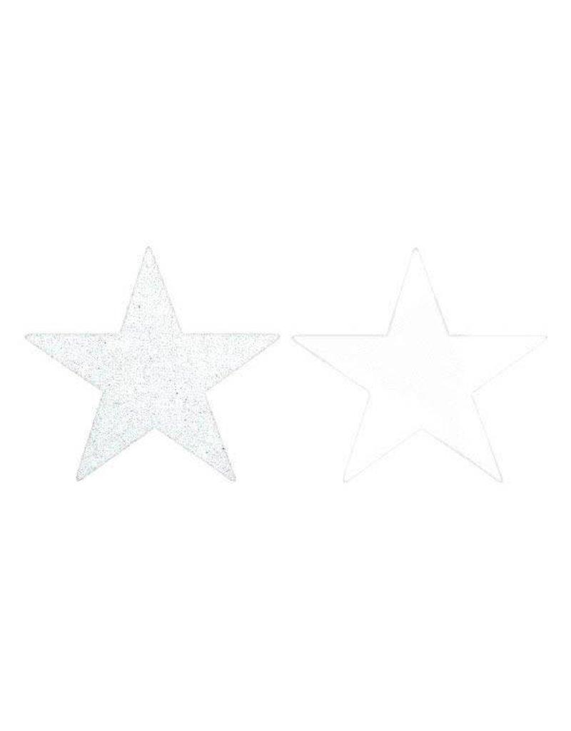 Amscan DÉCOUPAGE ÉTOILES 5PO GLITTER/FOIL (5) -