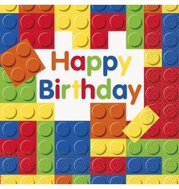 Unique SERVIETTES DE TABLE - HAPPY BIRTHDAY LEGOS