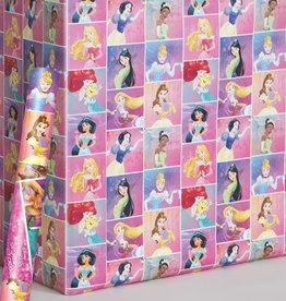 "Unique PAPIER D'EMBALLAGE 30""X5' - PRINCESSES DISNEY"