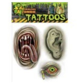 Forum Novelty TATOUAGES TEMPORAIRE ZOMBIE