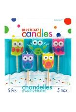 Amscan CHANDELLES MOULÉES SUR PICS - HIBOUX (5)