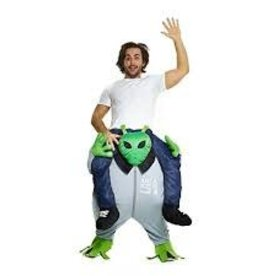 MORPHSUITS *COSTUME ADULTE MORPHSUIT PIGGYBACK - ALIEN - STD