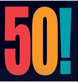 Unique SERVIETTES DE TABLE 50 ANS NOIRES