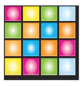Beistle Co. SERVIETTES DE TABLE DISCO