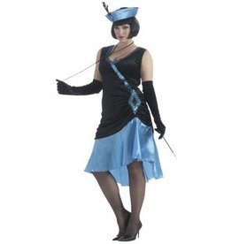 Forum Novelty COSTUME FEMME-BETTY BLUE 20'S