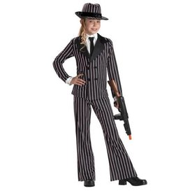 California Costumes COSTUME ENFANT FILLE GANGSTER