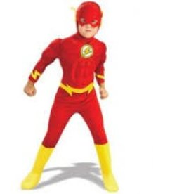 RUBIES COSTUME ENFANT THE FLASH AVEC MUSCLES