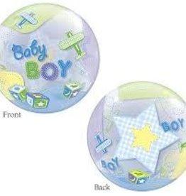 Qualatex BALLON BUBBLE BABY BOY