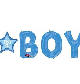 Anagram ENSEMBLE DE BALLONS MYLAR SUPERSHAPE ''IT'S A BOY'' BLEU (4 BALLONS)