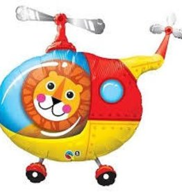 Qualatex BALLON MYLAR SUPERSHAPE LION DANS HELICOPTERE