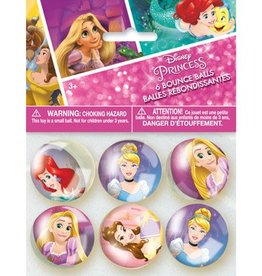Unique BALLES REBONDISSANTES (6) - PRINCESSES DISNEY