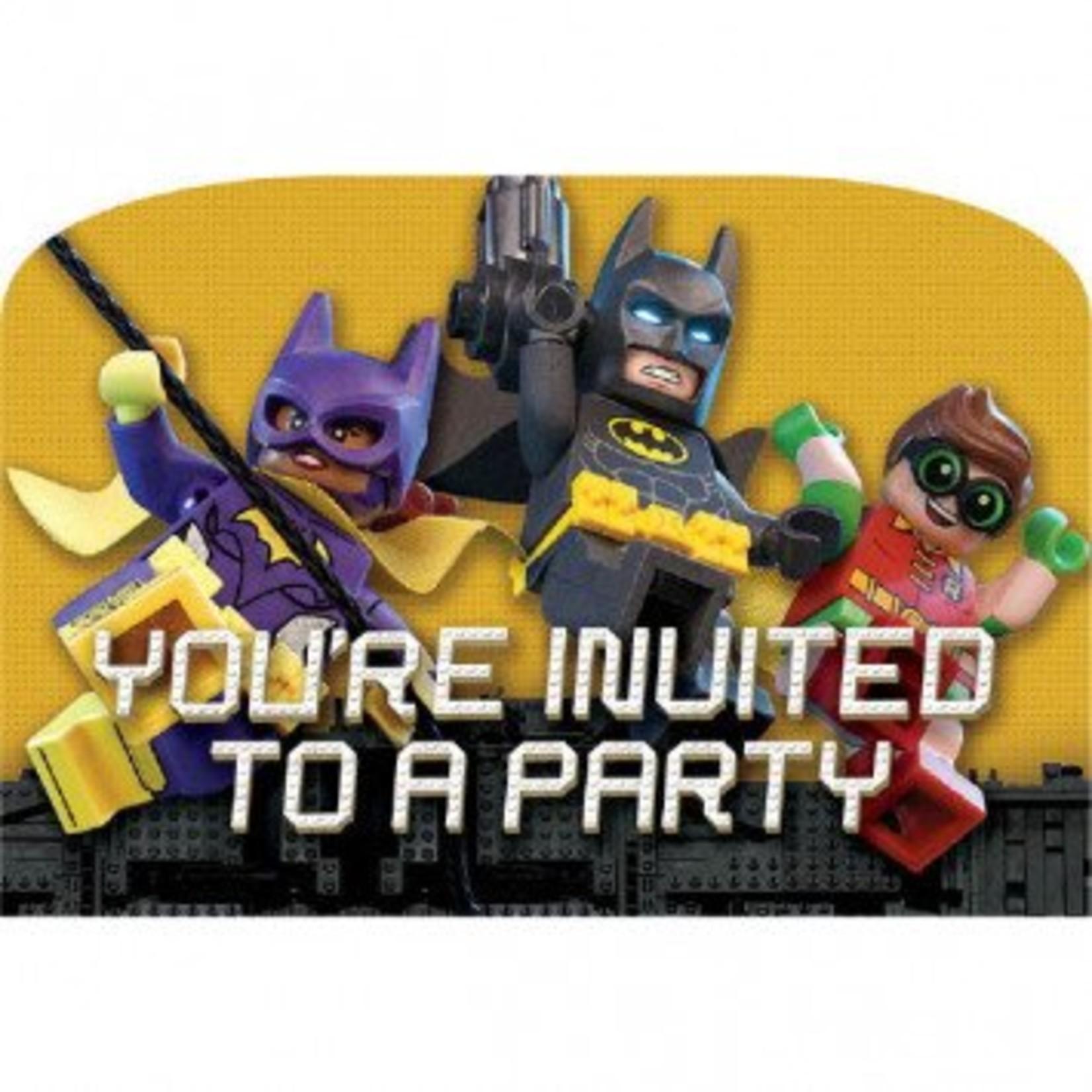 Amscan INVITATIONS - BATMAN LEGO (8)