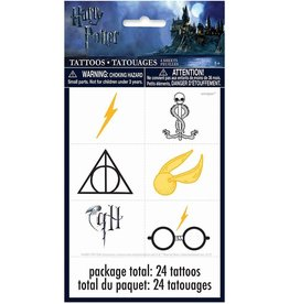 Unique TATOUAGES (4/PQT) - HARRY POTTER