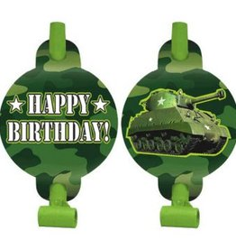 Amscan MIRLITONS HAPPY BIRTHDAY - ARMÉE/CAMOUFLAGE