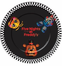"""Forum Novelty ASSIETTES 9"""" (8) - FIVE NIGHTS AT FREDDY'S"""