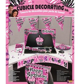 Forum Novelty ENSEMBLE DE DÉCORATION HAPPY BIRTHDAY ROSE