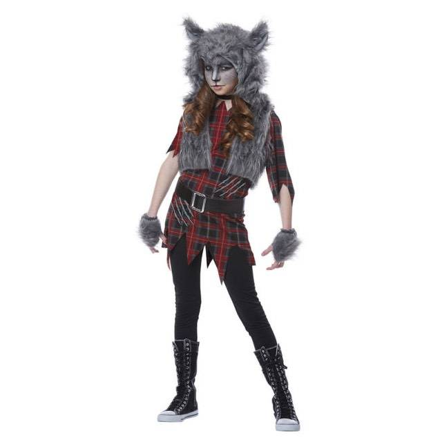 California Costumes Costume Enfant Fille Loup Garou Party Shop