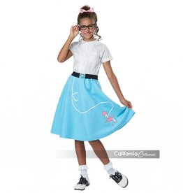 California Costumes COSTUME JUPE ENFANT FILLETTE RÉTRO -