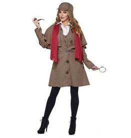 California Costumes COSTUME ADULTE LADY SHERLOCK