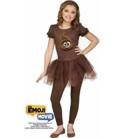FUN WORLD *COSTUME ENFANT EMOJI LE FILM - POOP JR. FILLE