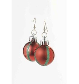 Forum Novelty BOUCLES D'OREILLES BOULE DE NOËL ROUGE