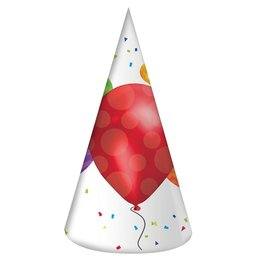 Creative Converting Balloon Blast Paper Party Hats, Adult Size