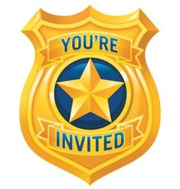 Creative Converting INVITATIONS (8) - POLICE