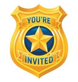 Creative Converting INVITATIONS (8) - POLICE