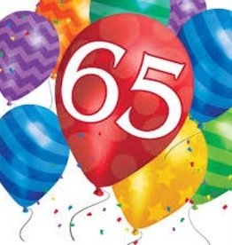 Creative Converting SERVIETTES DE TABLE (16) - BALLONS 65 ANS