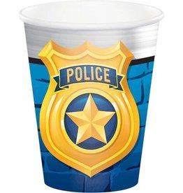 Creative Converting VERRES 9OZ POLICE (8)