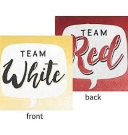 Creative Converting SERVIETTES À COCKTAIL - VIN TEAM RED/TEAM WHITE (16)