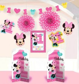 Amscan ENSEMBLE DE DÉCORATIONS - DISNEY MINNIE 1 AN