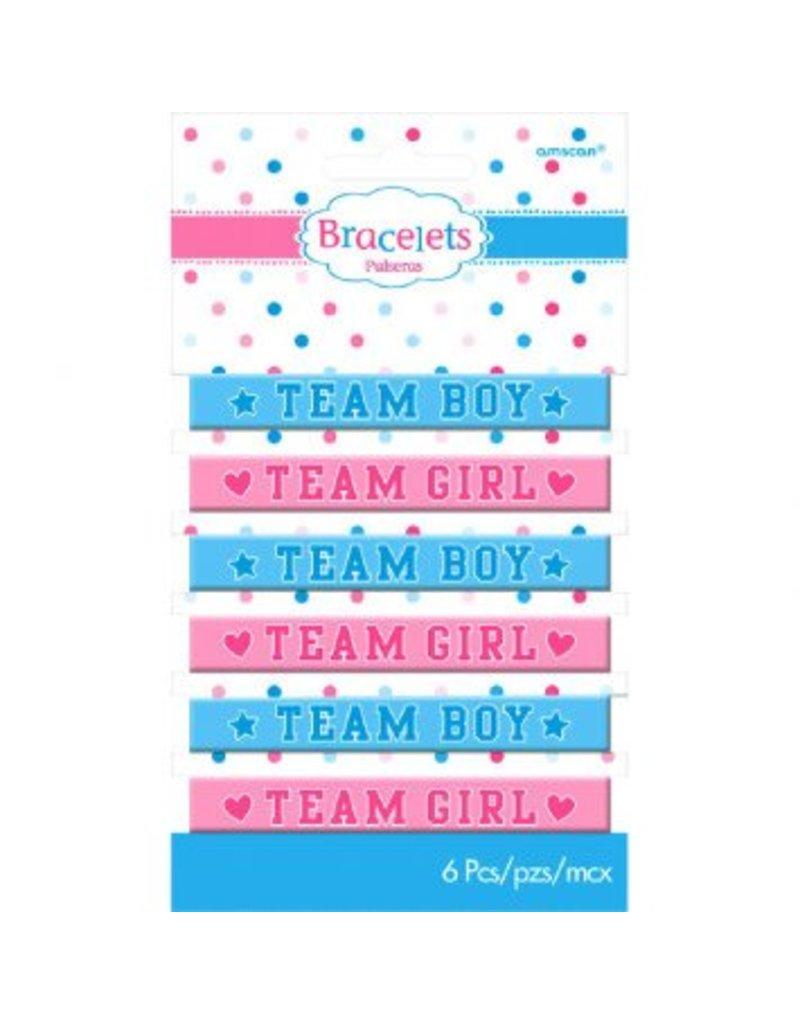 Amscan BRACELETS (6) - GIRL OR BOY?