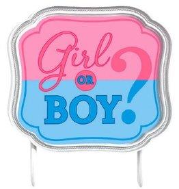 Amscan CAKE TOPPER GIRL OR BOY?