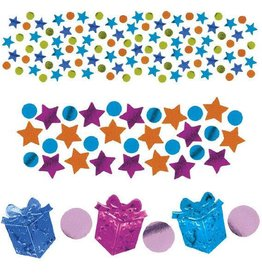 Amscan CONFETTI ASSORTIES 1.2OZ - FÊTE FILLE