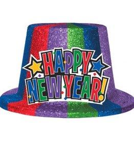 CHAPEAU HAUT DE FORME SCINTILLANT NEW YEAR