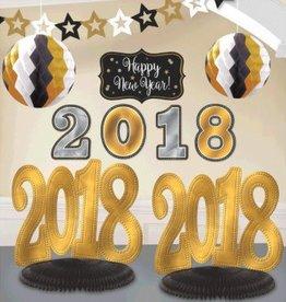 Amscan KIT DE DÉCORATIONS POUR PIÈCE - 2018 NOUVEL AN