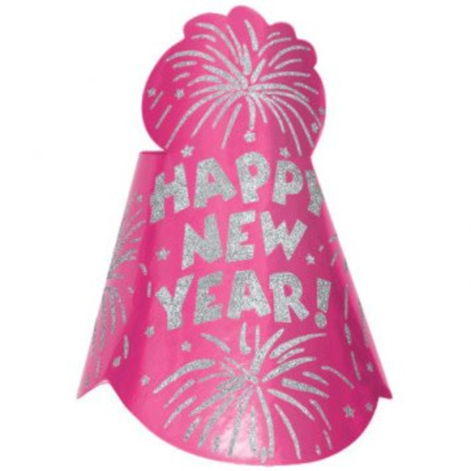 Amscan CHAPEAU CONIQUE ROSE HAPPY NEW YEAR