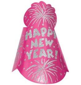 Amscan Copy of CHAPEAU CONIQUE BLEU HAPPY NEW YEAR
