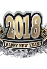 Amscan COURONNE NOIR ARGENT OR - NOUVEL AN 2018