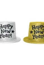 Amscan CHAPEAU HAUT DE FORME OR - HAPPY NEW YEAR