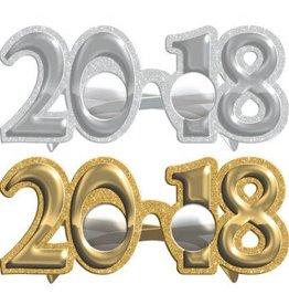Amscan LUNETTES BRILLANTS ARGENT & OR - 2018