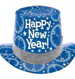 Amscan Copy of CHAPEAU HAUT DE FORME NOIR PRISMATIQUE NEW YEAR