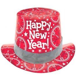 Amscan Copy of CHAPEAU HAUT DE FORME OR PRISMATIQUE NEW YEAR