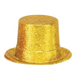 Amscan HOLLYWOOD GOLD GLITTER TOP HAT