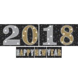 Amscan DÉCORATION MURALE - NOUVEL AN 2018